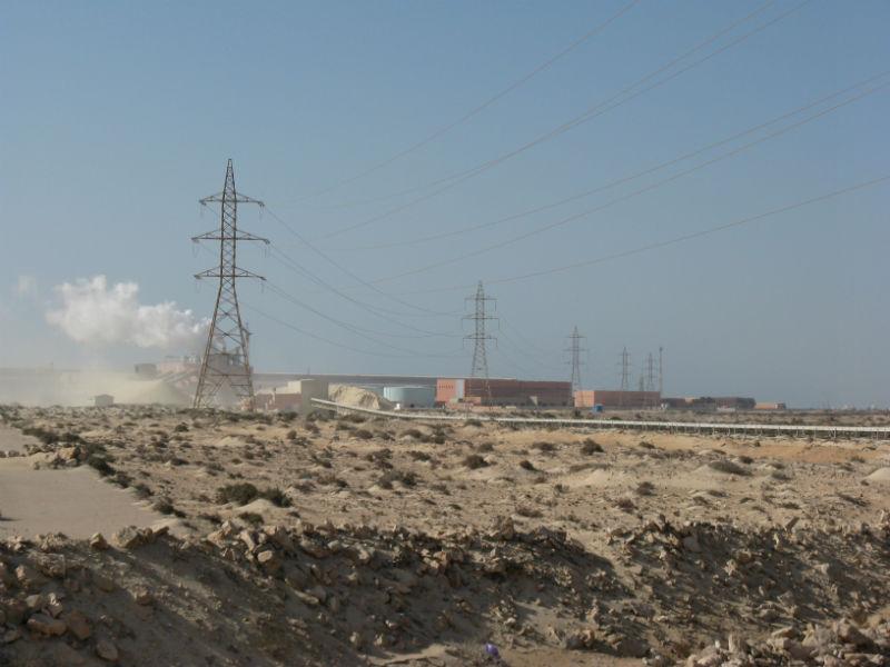 Fosfatfabriken Bou Craa utanför El Aaiún. Foto: Anna Artén