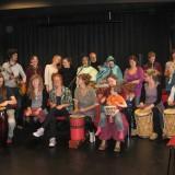 I maj 2013 deltog Mariem Hassan i Clandestinofestivalen i Göteborg och i samband med den en workshop för svenska musiker. Bild: Tidskriften Västsahara