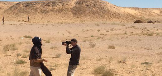 Filmer med Promoe samt en dokumentärfilm spelades in i öknen. Foto: Emmy Karnerud